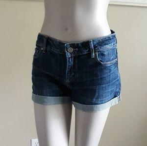 PAIGE Cuffed Jean Shorts size 25